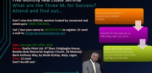 April edition; free monthly real estate seminar