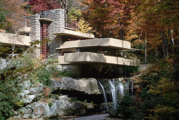 Exterior of Fallingwater by Frank Lloyd Wright. (© Richard A. Cooke/CORBIS)