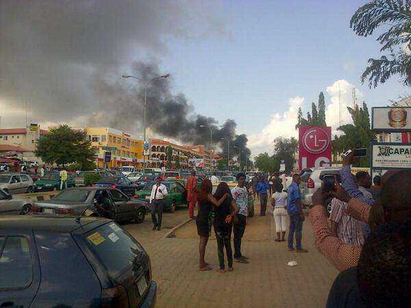 A bomb blast rocked Wuse in 2014