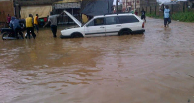 Over 40 houses submerged in Edo by flood