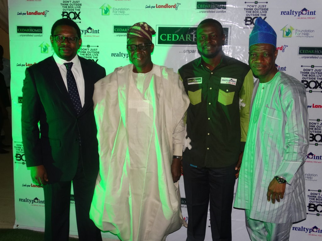 L-R. Mr. Afolabi Folayan, Engr. Femi Dosumu, Mr. Debo Adejana and Mr. Akin Olawore