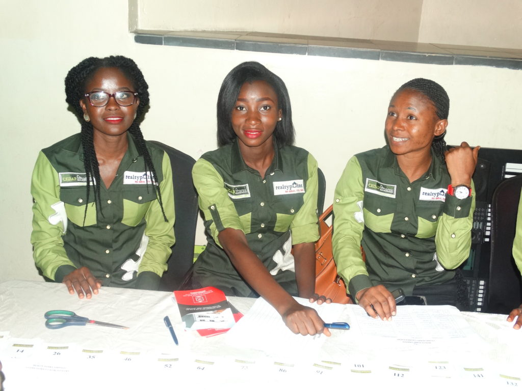 These ladies were saddled with the task of registering guests for the event.