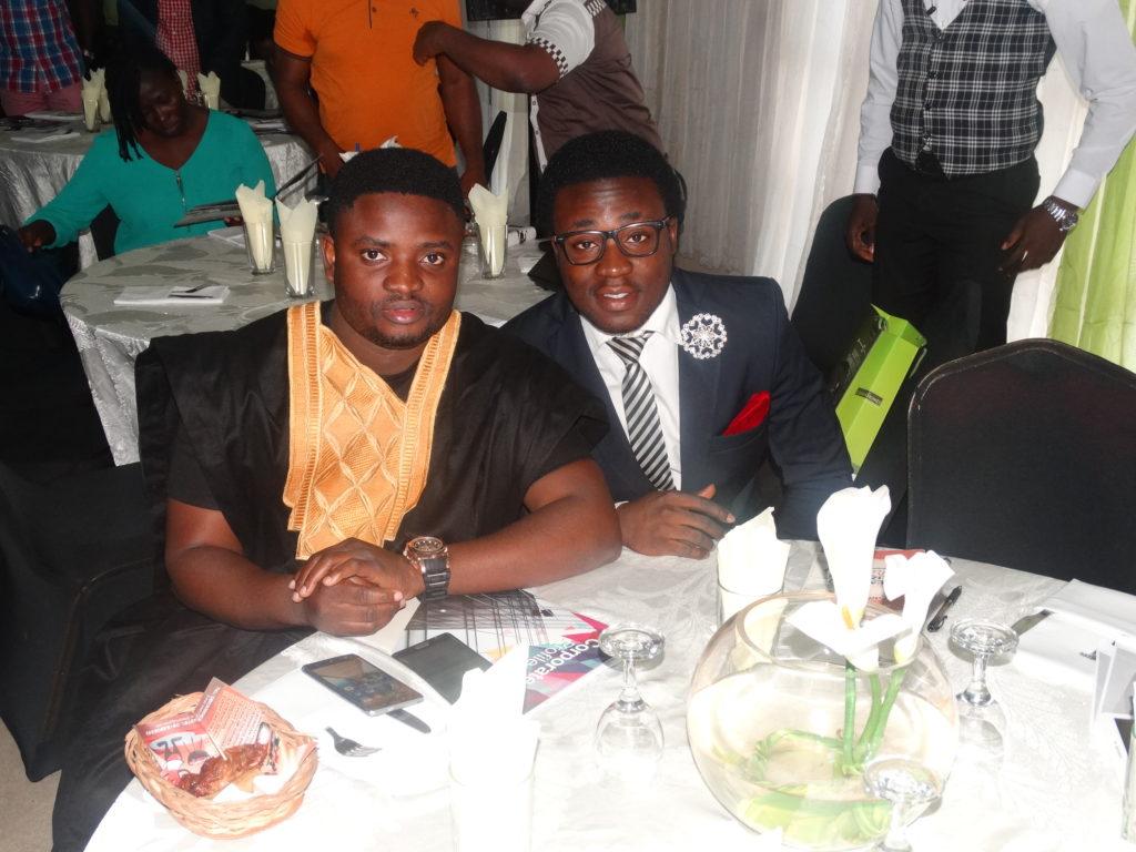 L-R, Brand Ambassador, Comedian Acappella and a guest