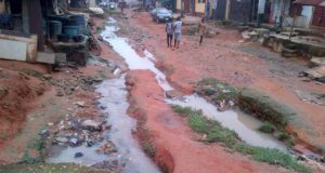 Residents of Shasha community in Lagos lament bad road, flood