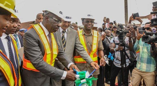 Obaseki inaugurates 500m concrete pavement roads