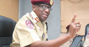 FRSC boss announces that traffic offender's fine will soon be increased
